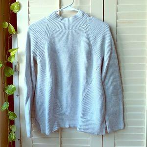 Gap, light gray mock neck sweater, XS
